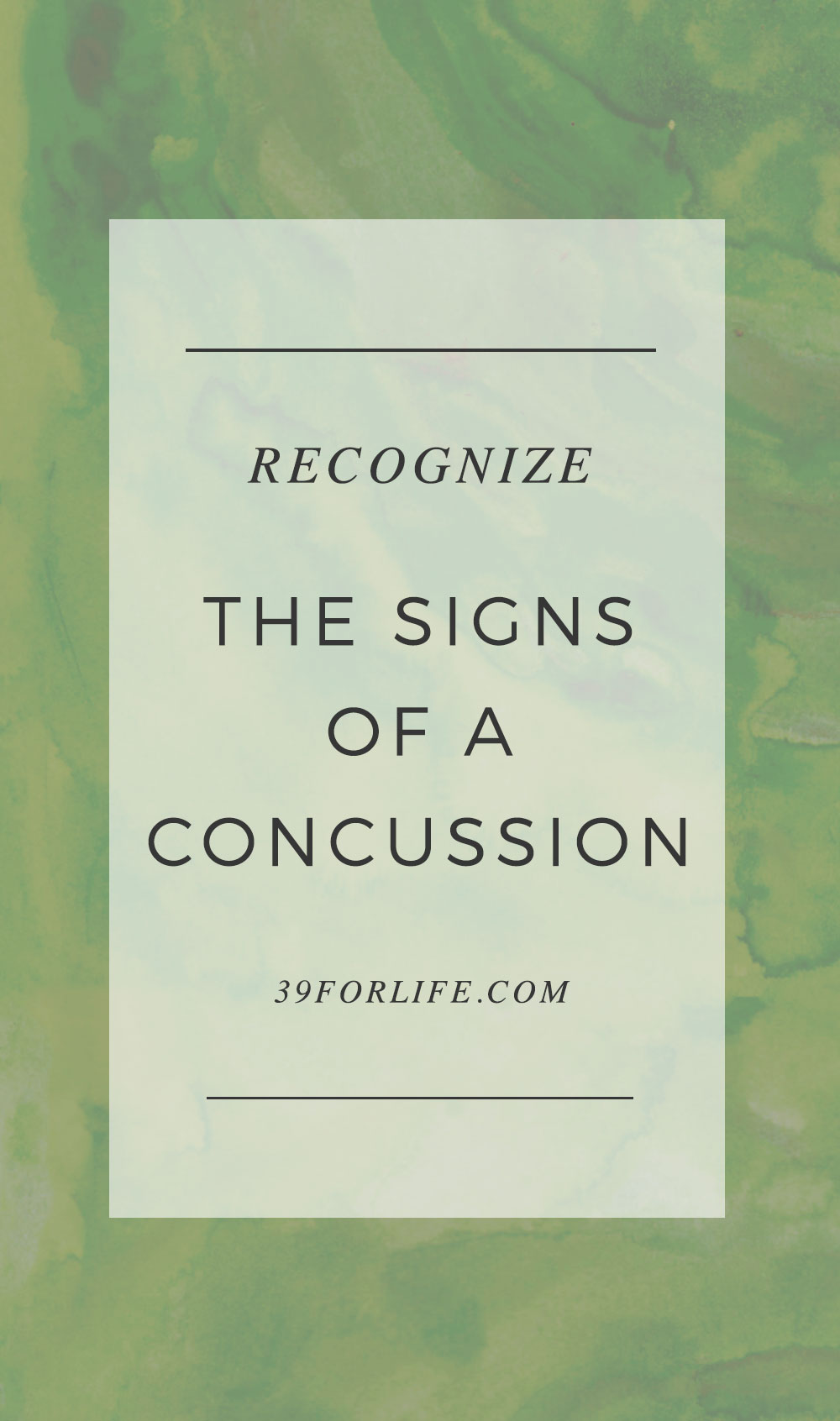 How to recognize the signs of a concussion and when you should see a doctor for a possible brain injury.