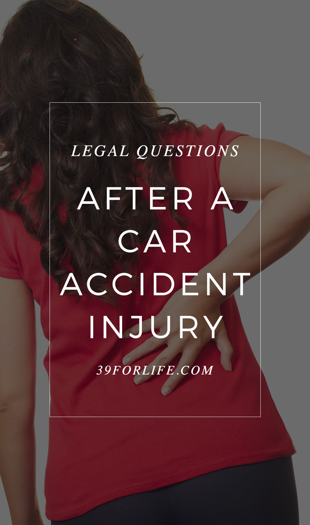 After a car accident, legal concerns add to the frustration and sometimes isolation that comes with chronic back pain. Here are your options.