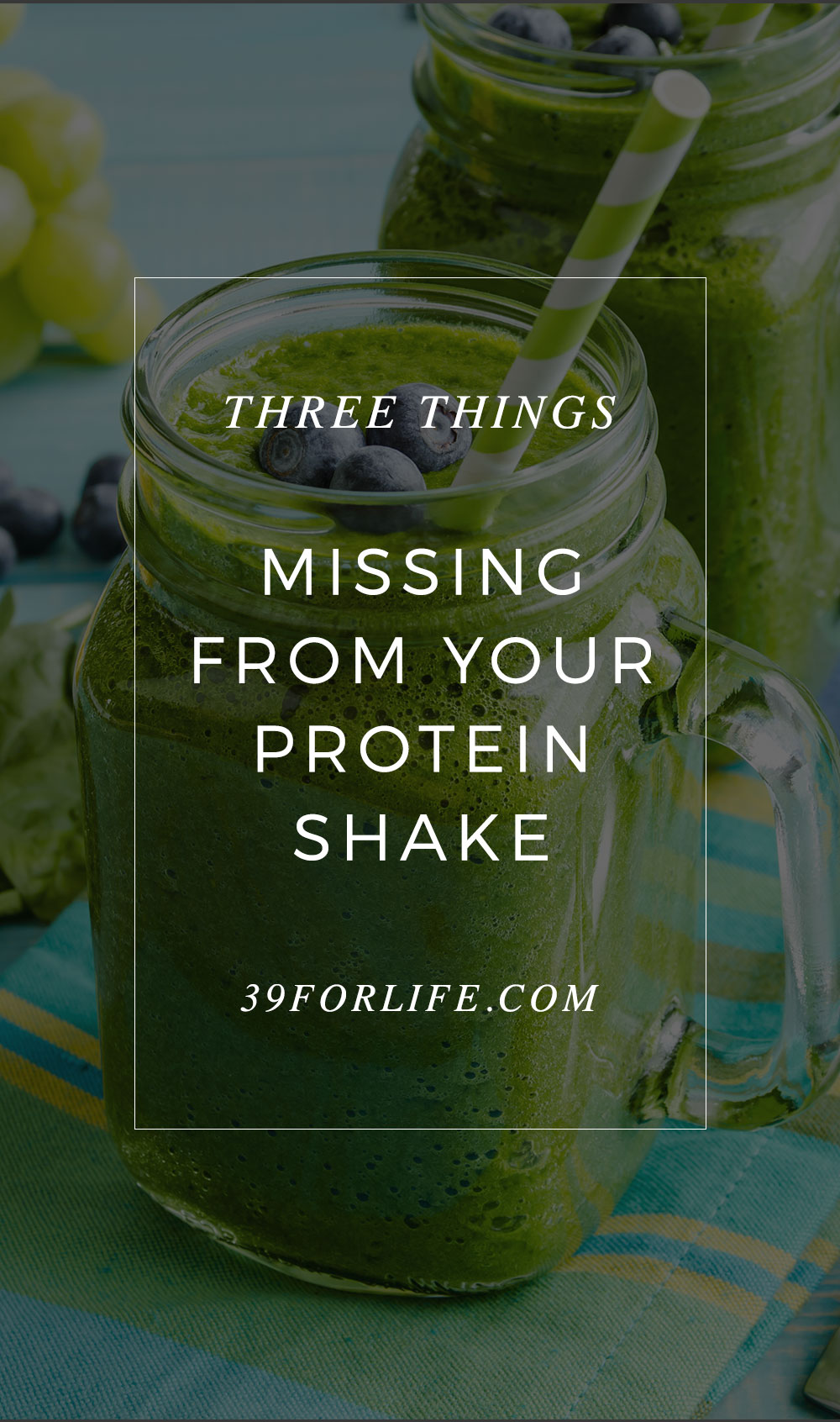 A nutrition expert explains three things you should be putting in your protein shake every morning. I didn't know about these!