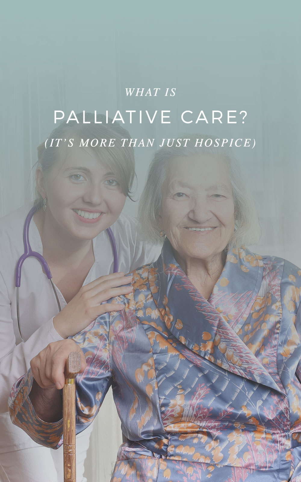 Have you heard of pallative care? It's more than just hospice and could be the answer for seniors with chronic illnesses to make sure they get attentive, compassionate, and comprehensive care.
