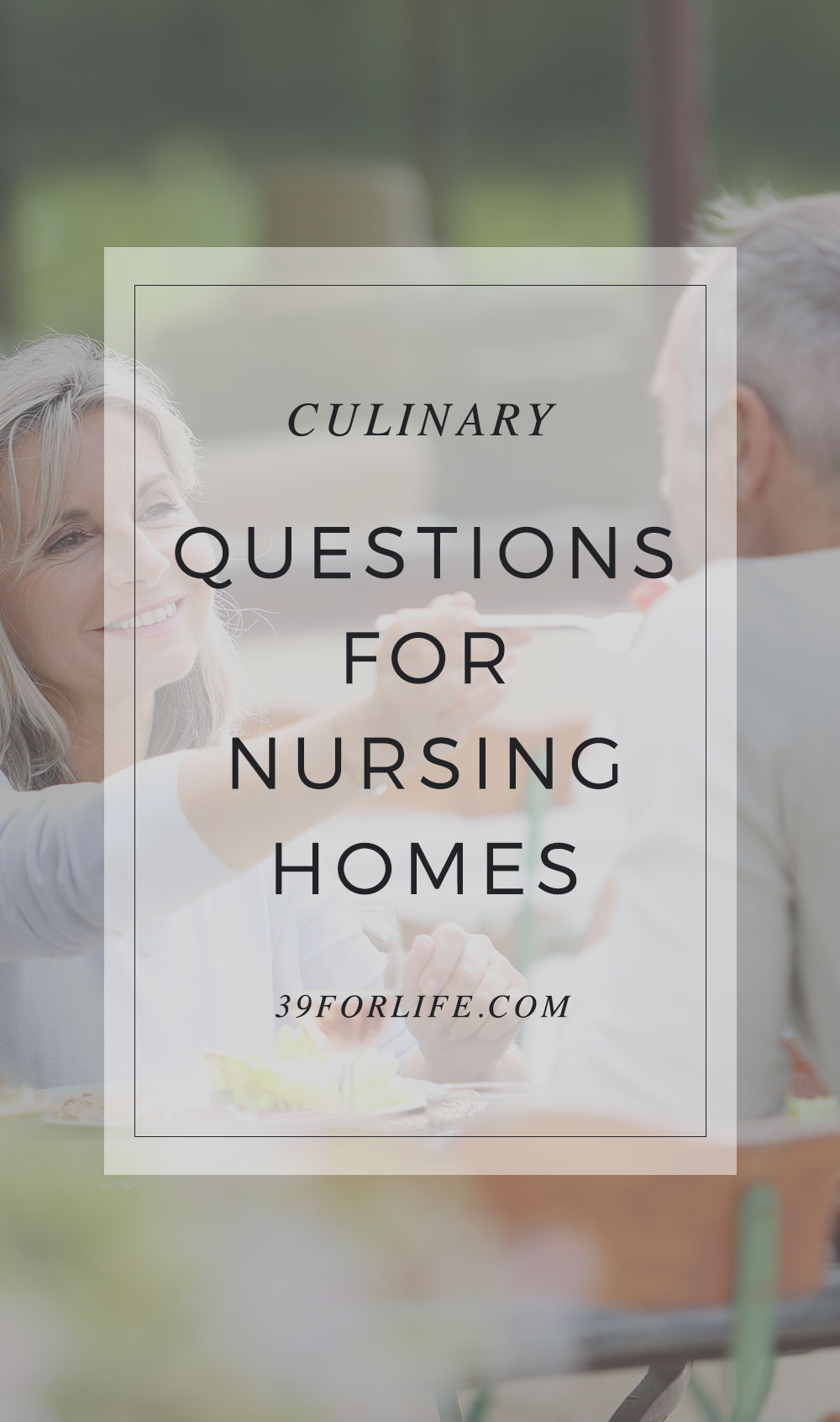 When searching for a nursing home, don't forget to ask about the food! Nursing home nutritional choices are crucial to a good long-term care experience.