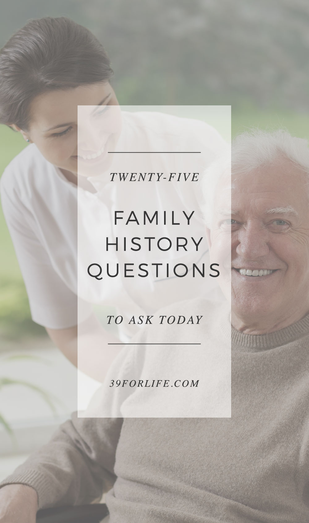Don't wait until it's too late to build memories with your grandparents. Get to know their stories now. Here are 25 family history questions to get started.