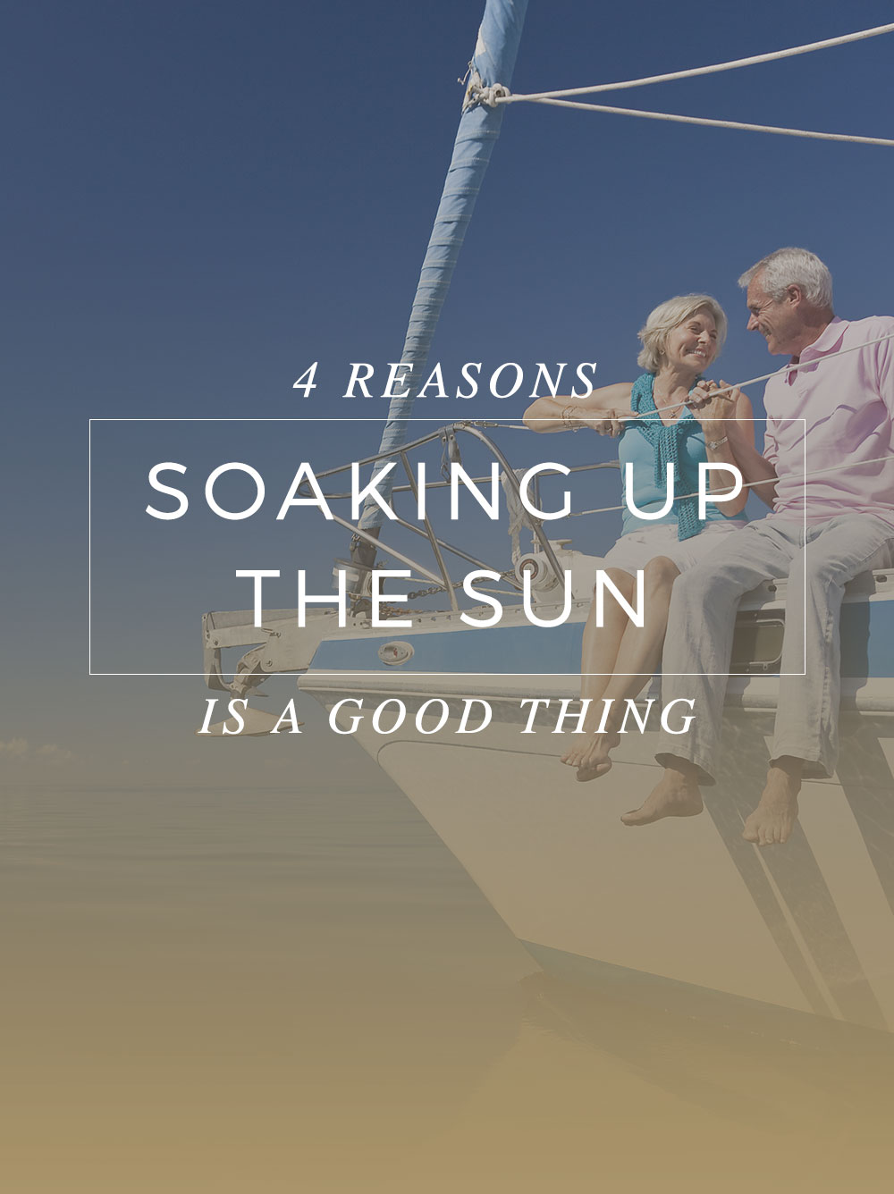 In the era of extreme sun protection, remember that a little sun can be a good thing. Here are four reasons why you should be okay with a little sun exposure.