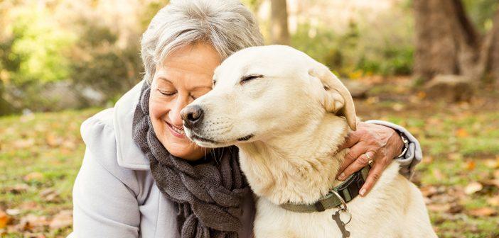 Grandma with her dog
