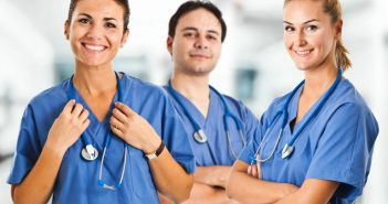 Nurses wearing Stethoscope