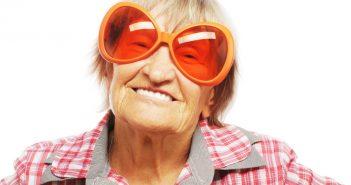 senior wearing sunglass